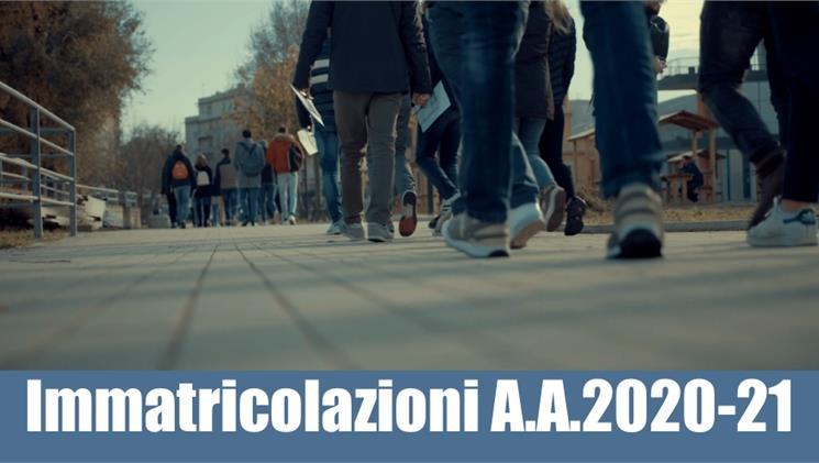Ammissione ai corsi di Laurea Triennale A.A. 2020/2021
