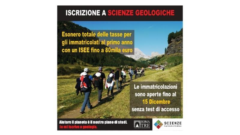 Affrettati! Le iscrizioni al corso di laurea in Scienze geologiche sono ancora aperte!
