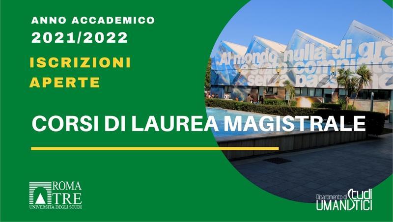 Anno Accademico 20201/2022. Iscrizione alla Laurea Magistrale