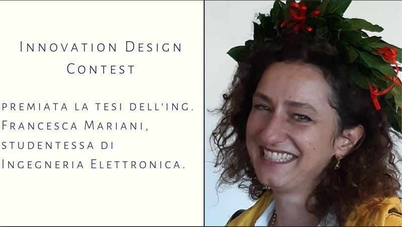 Innovation Design Contest: premiata la tesi di laurea magistrale di una studentessa di Ingegneria Elettronica