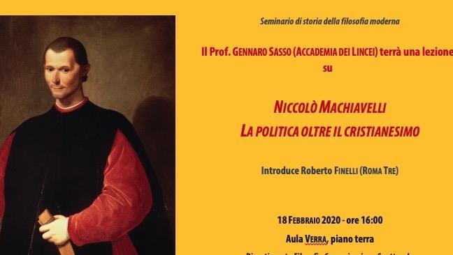 Seminario di storia della filosofia moderna: Niccolò Machiavelli