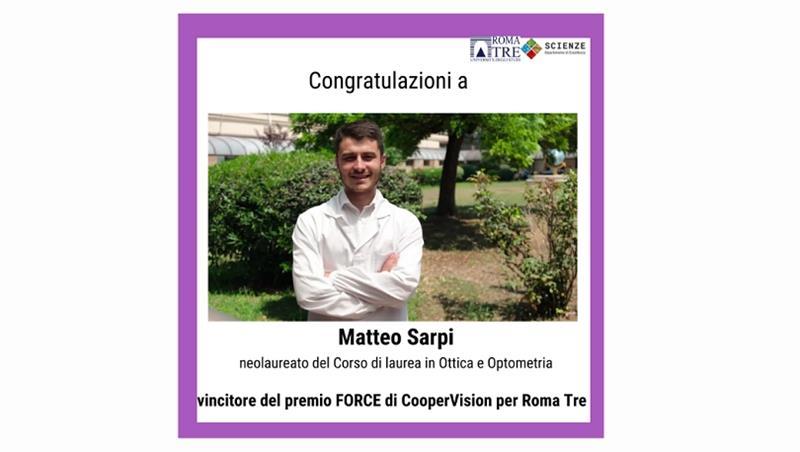 Congratulazioni a Matteo Sarpi