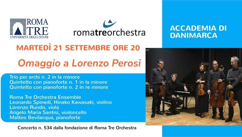 Omaggio a Lorenzo Perosi - Roma Tre Orchestra