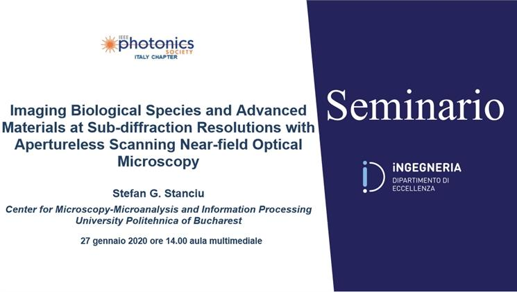 Seminario Imaging Biological Species and Advanced Materials at Sub-diffraction Resolutions with Apertureless Scanning Near-field Optical Microscopy