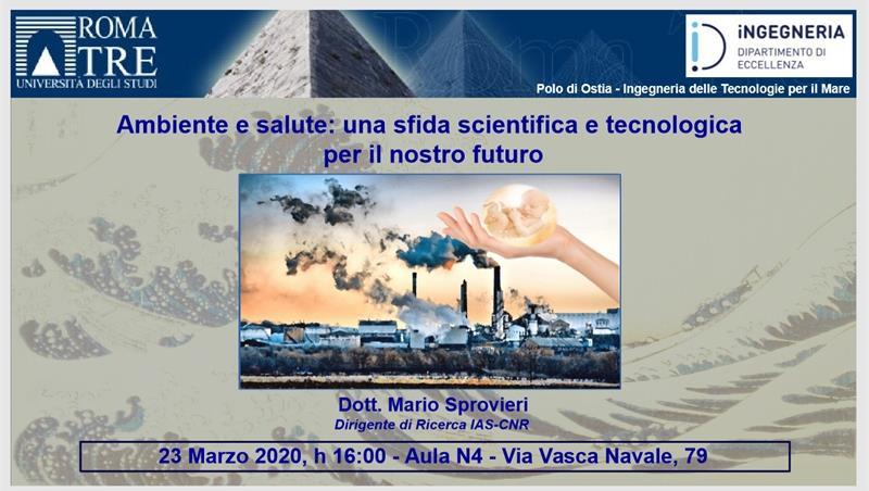 Ambiente e salute: una sfida scientifica e tecnologica per il nostro futuro