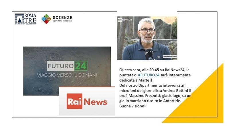Informazioni sul passato di Marte ci arrivano dall'Antartide. Ne parla il prof. Frezzotti su Futuro24 di Rainews24