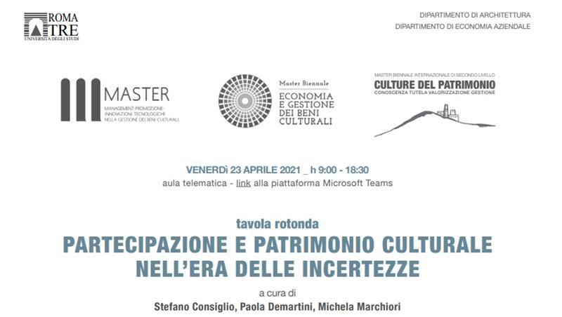 Partecipazione e patrimonio culturale nell'era delle incertezze