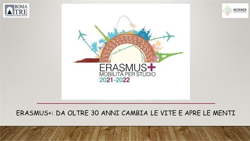 Al via il bando Erasmus+ mobilità per studio a.a. 2021/2022