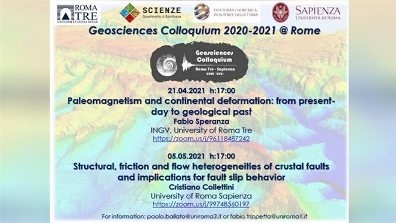 I Colloqui di Geoscienze: aprile e maggio 2021