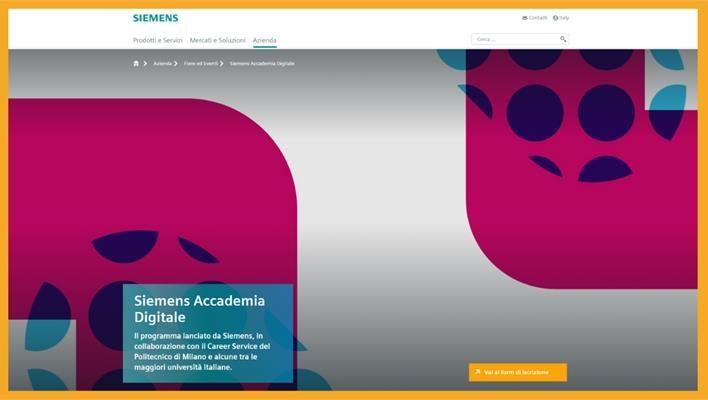 Siemens lancia il Programma Accademia Digitale