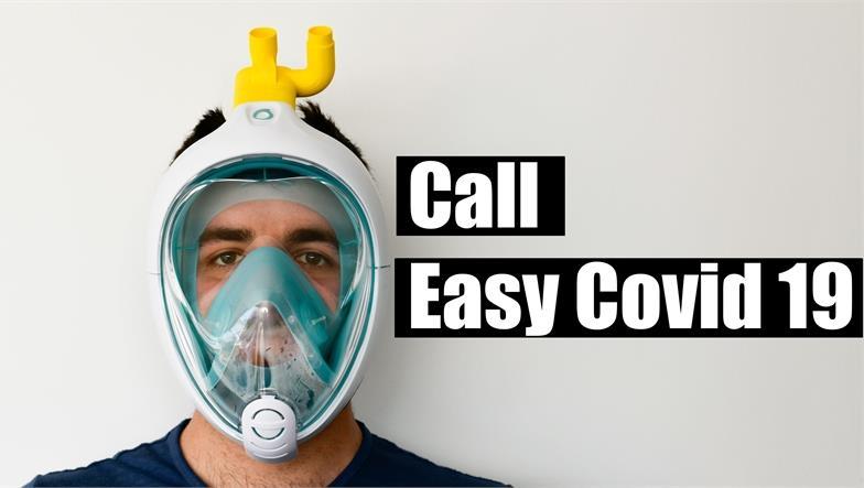 Call Easy Covid 19 per aiutare a realizzare una maschera d'emergenza