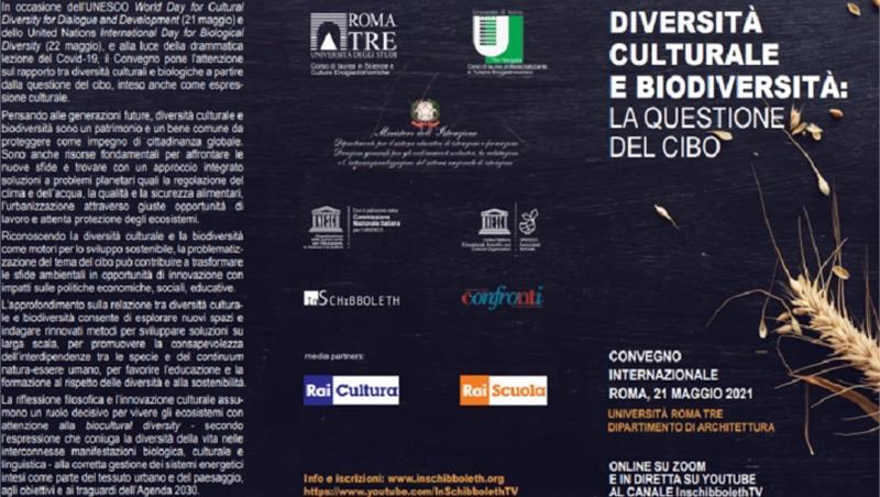 """Convegno: """"Diversità culturale e biodiversità: la questione del cibo"""""""