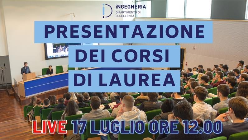 Presentazione Live - I Corsi di Laurea di Ingegneria