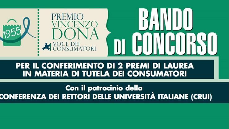 Bando Premio di Laurea Vincenzo Dona