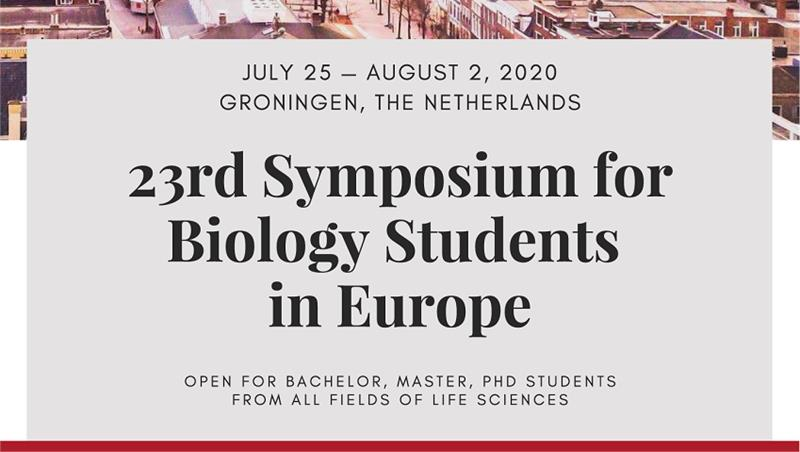 23rd Symposium for Biology Students in Europe - registration is open!