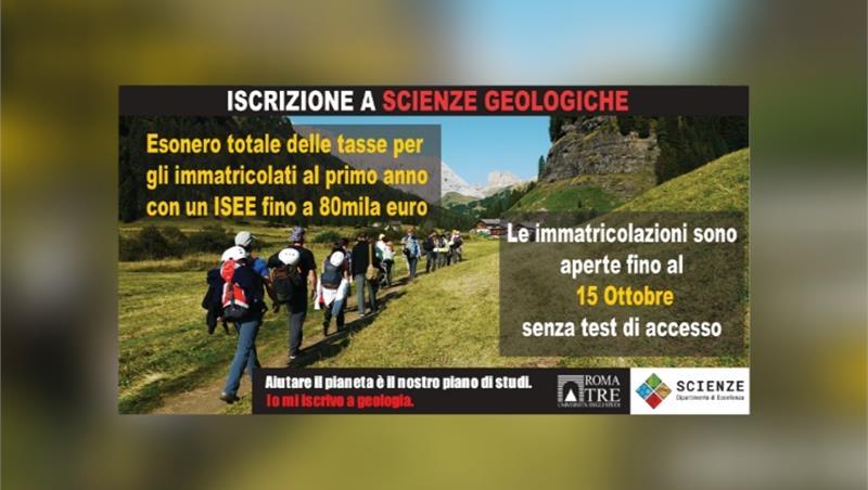 Aperte fino al 15 Ottobre le immatricolazioni a Scienze geologiche senza test di accesso